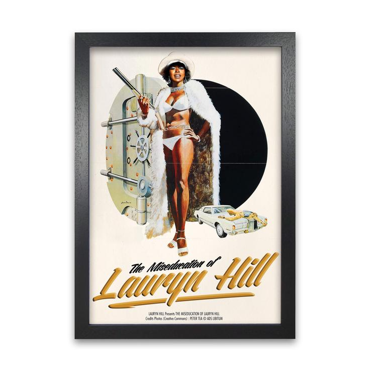 The miseducation of lauryn hill retro music poster framed wall art print