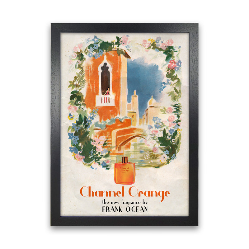 Channel Orange by David Redon Black Frame