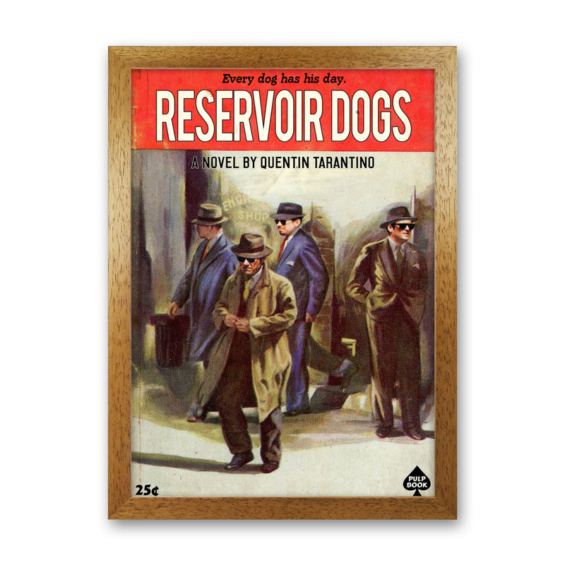 Reservoir Dogs by David Redon Oak Frame