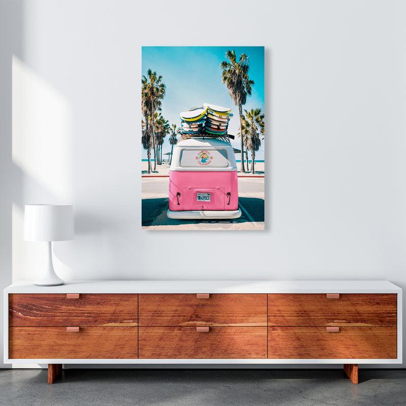 Van Life in Pink Photography Art Print by Gal Design A1 Canvas