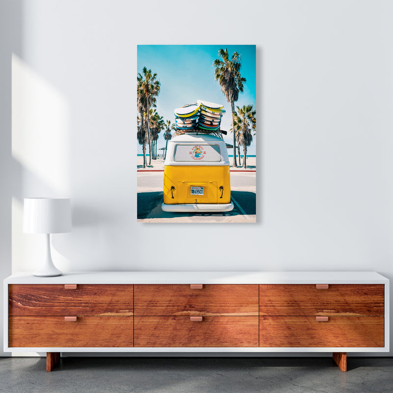 Van Life in Yellow Photography Art Print by Gal Design A1 Canvas