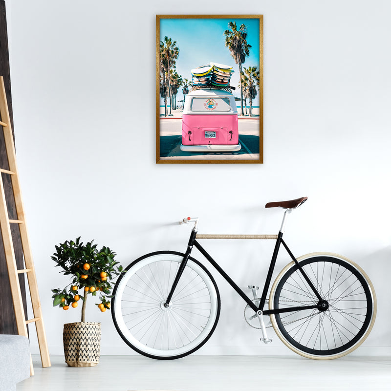 Van Life in Pink Photography Art Print by Gal Design A1 Print Only