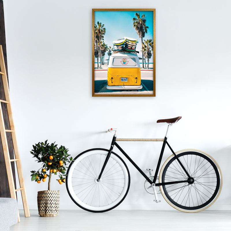 Van Life in Yellow Photography Art Print by Gal Design A1 Print Only