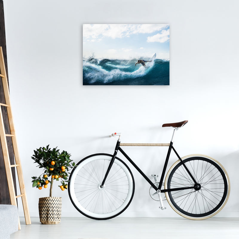 Catch a Wave 2 Photography Art Print by Gal Design A1 Black Frame