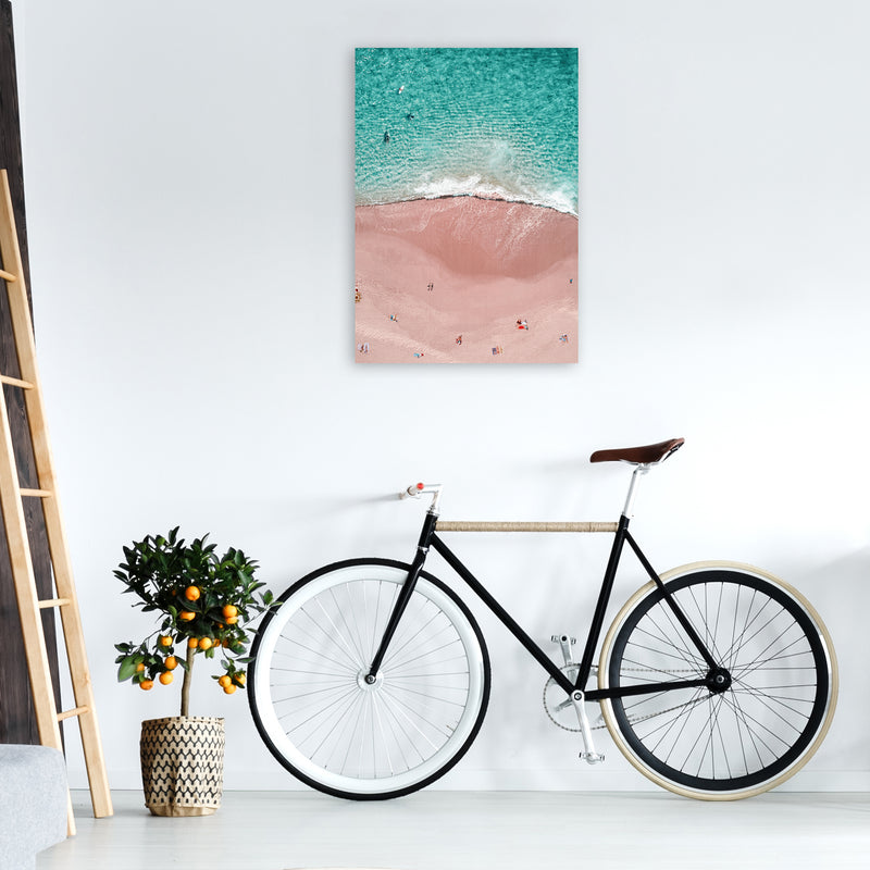 Pink Vacation Photography Art Print by Gal Design A1 Black Frame