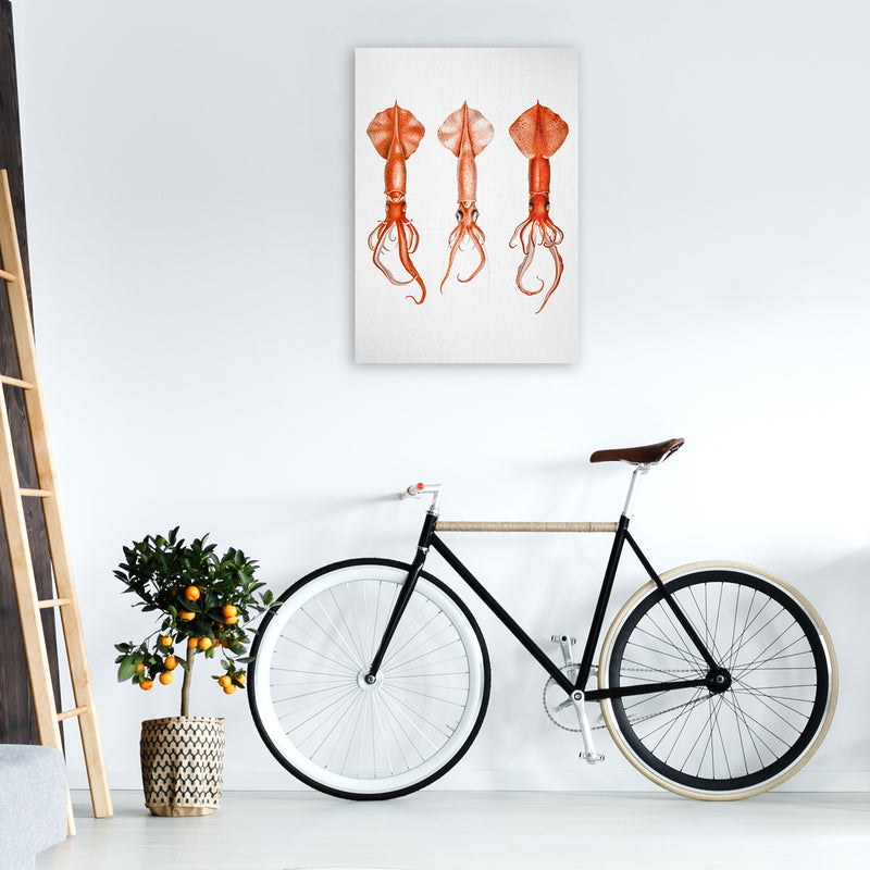 Squids - Watercolor Animals Art Print by Gal Design A1 Black Frame