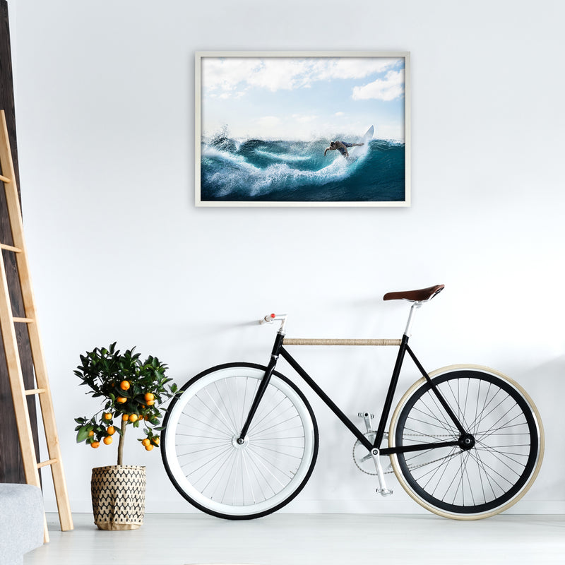 Catch a Wave 2 Photography Art Print by Gal Design A1 Oak Frame