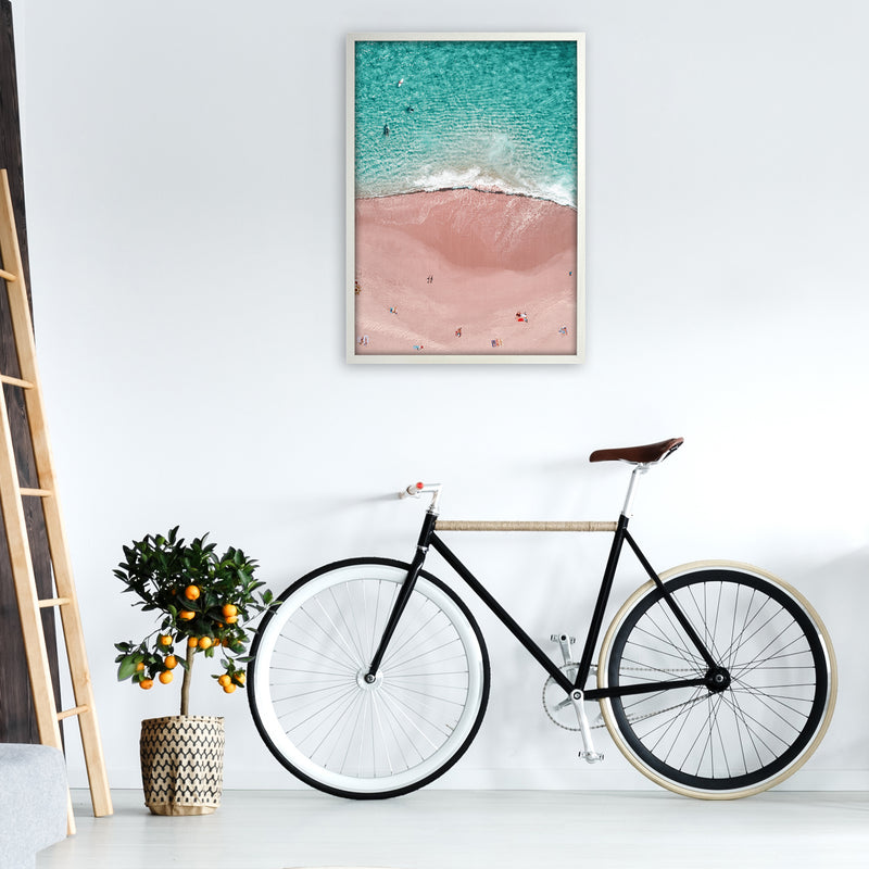 Pink Vacation Photography Art Print by Gal Design A1 Oak Frame
