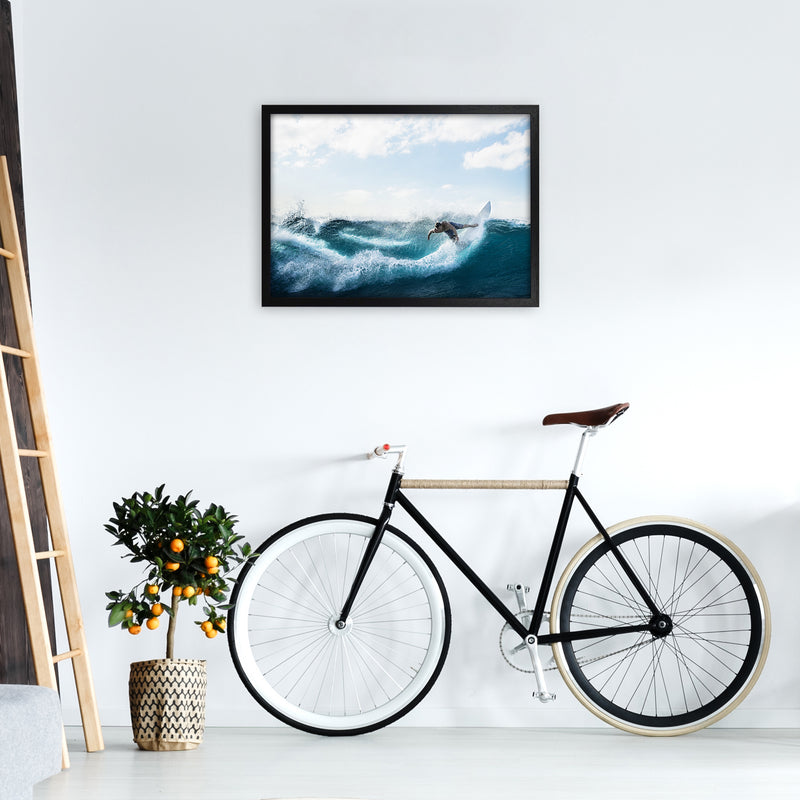 Catch a Wave 2 Photography Art Print by Gal Design A2 White Frame
