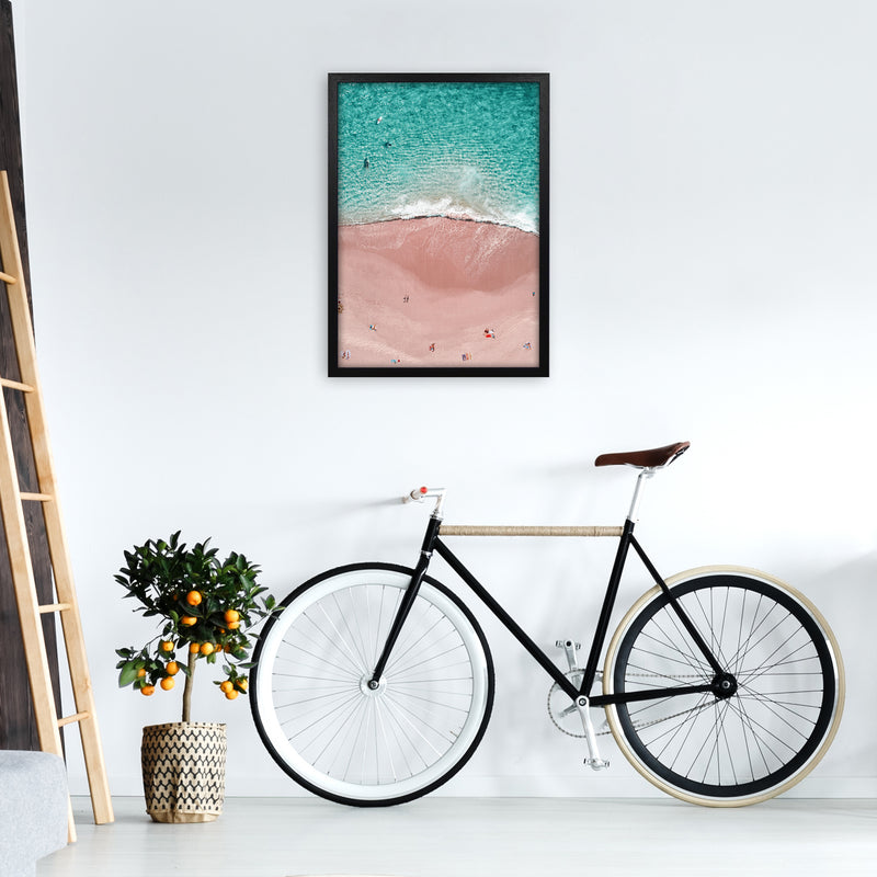Pink Vacation Photography Art Print by Gal Design A2 White Frame