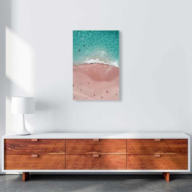 Pink Vacation Photography Art Print by Gal Design A2 Canvas