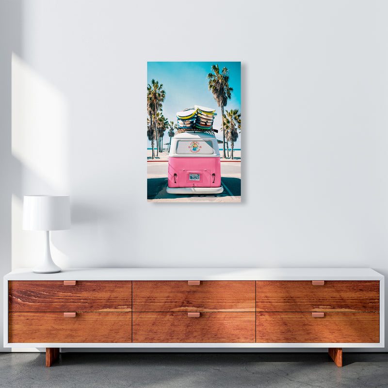 Van Life in Pink Photography Art Print by Gal Design A2 Canvas