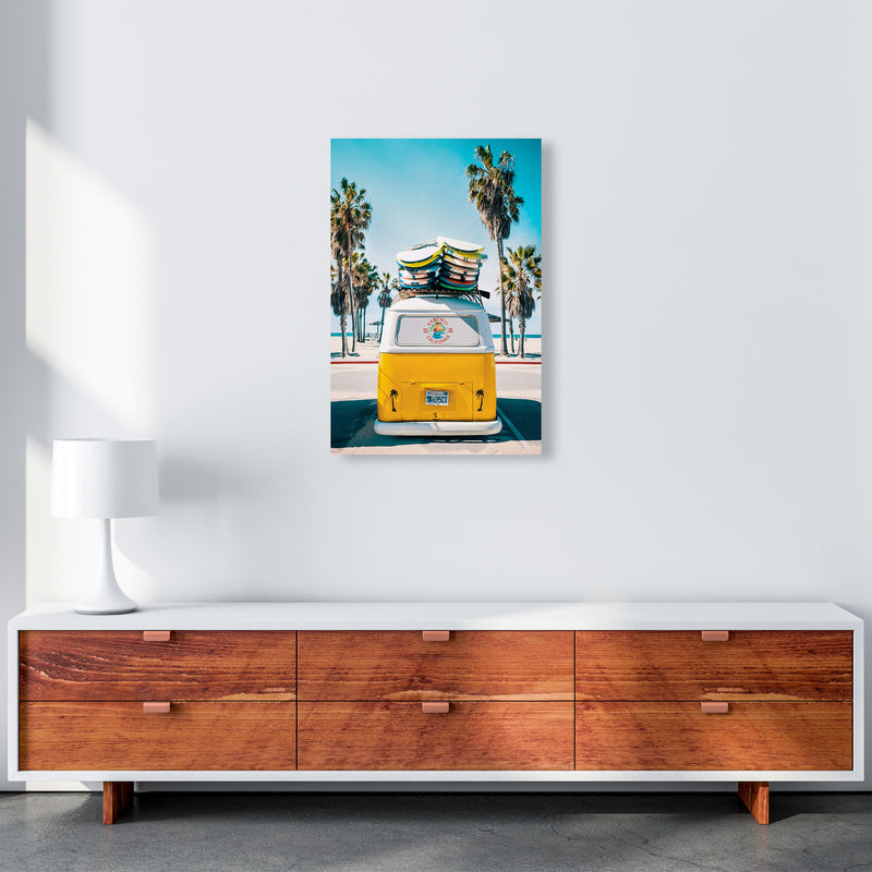 Van Life in Yellow Photography Art Print by Gal Design A2 Canvas