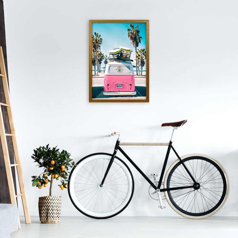 Van Life in Pink Photography Art Print by Gal Design A2 Print Only
