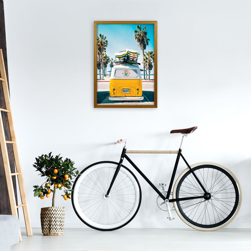 Van Life in Yellow Photography Art Print by Gal Design A2 Print Only