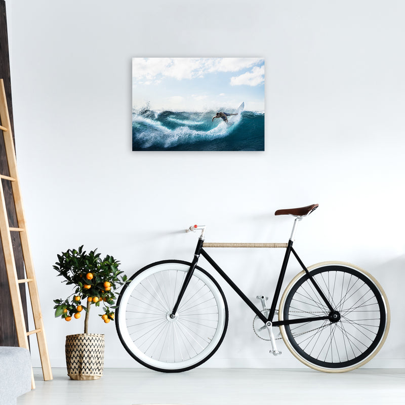 Catch a Wave 2 Photography Art Print by Gal Design A2 Black Frame