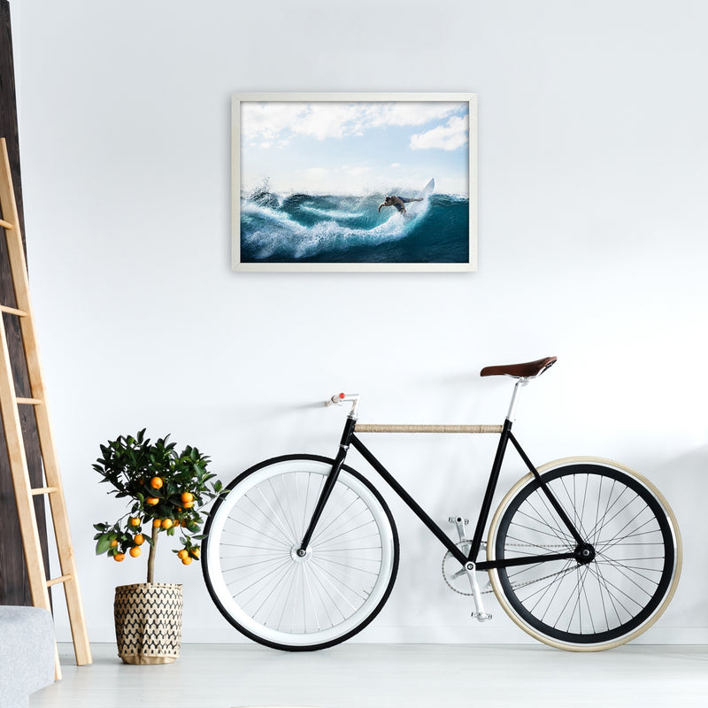Catch a Wave 2 Photography Art Print by Gal Design A2 Oak Frame