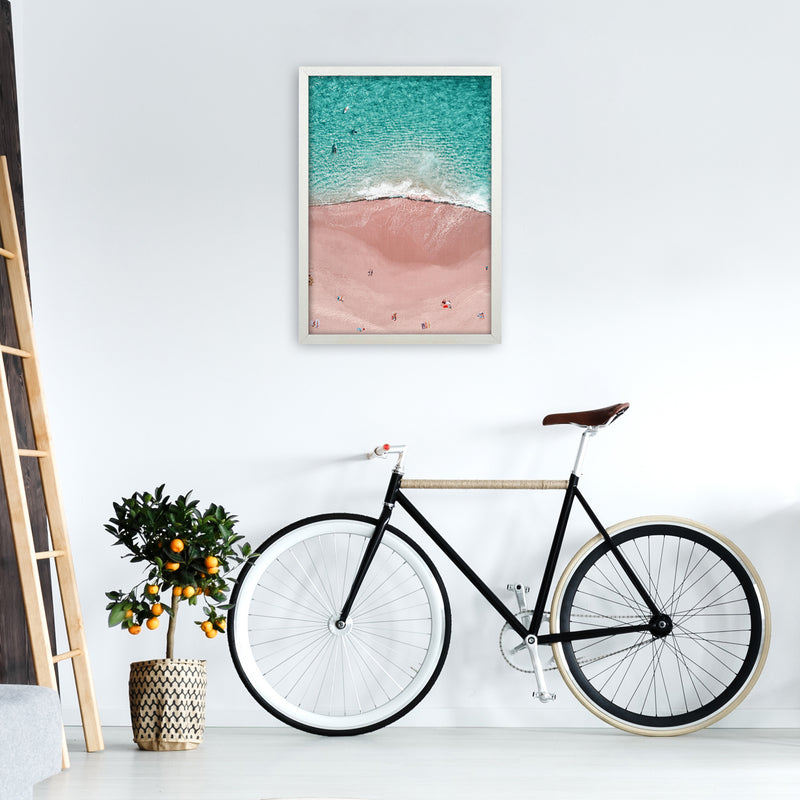 Pink Vacation Photography Art Print by Gal Design A2 Oak Frame