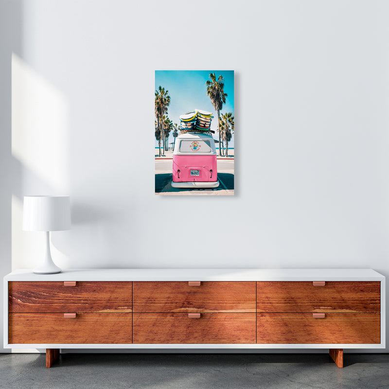 Van Life in Pink Photography Art Print by Gal Design A3 Canvas