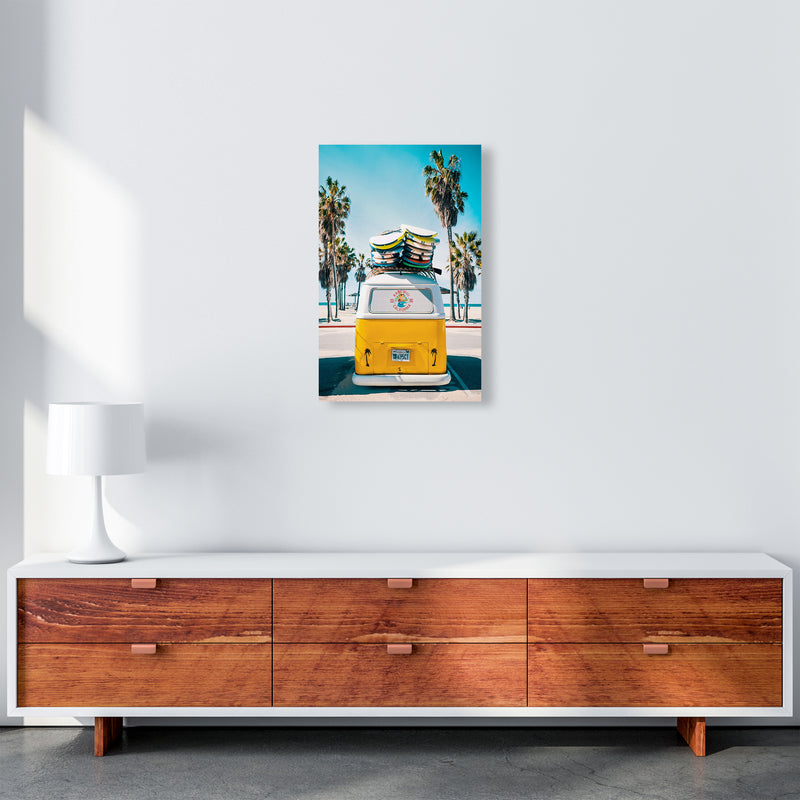 Van Life in Yellow Photography Art Print by Gal Design A3 Canvas