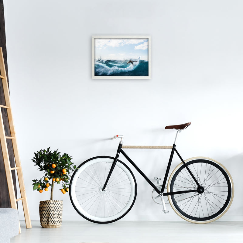 Catch a Wave 2 Photography Art Print by Gal Design A3 Oak Frame