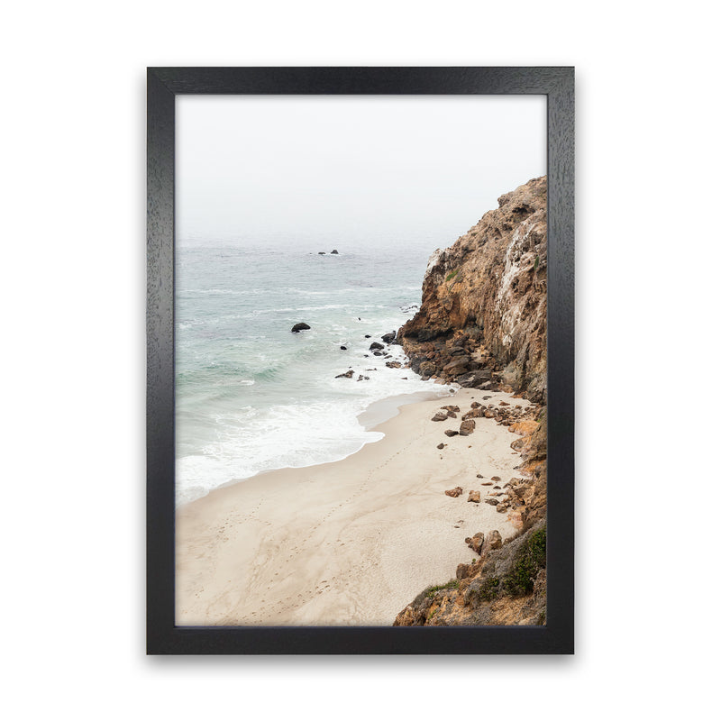 Malibu Dream Photography Art Print by Gal Design Black Grain