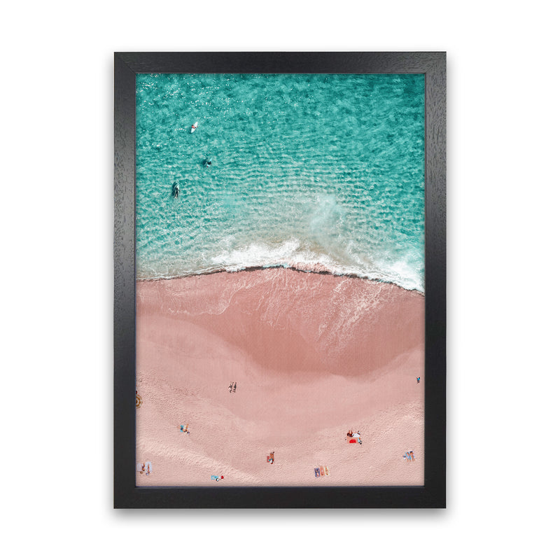Pink Vacation Photography Art Print by Gal Design Black Grain