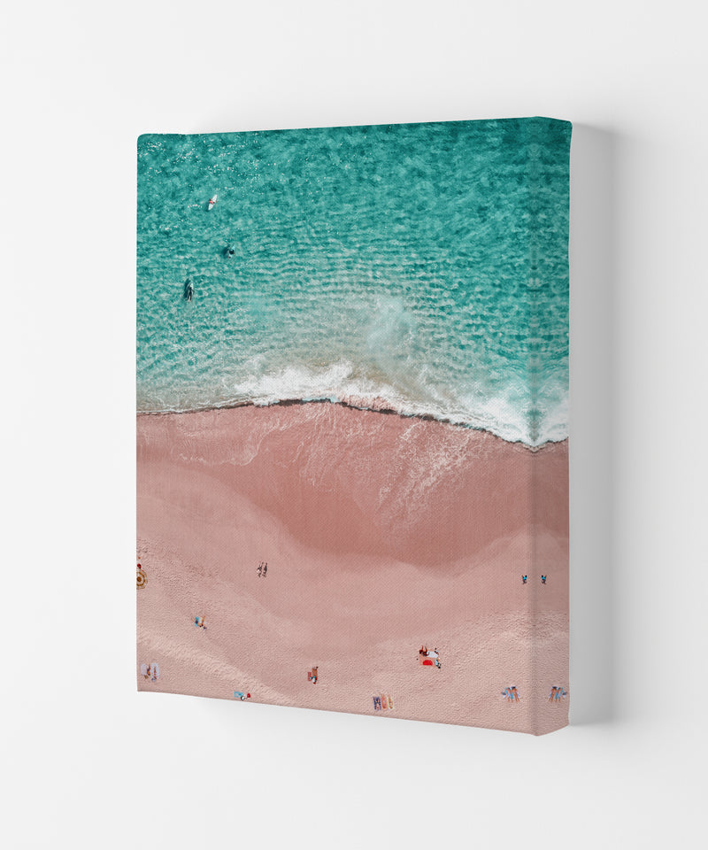 Pink Vacation Photography Art Print by Gal Design Canvas