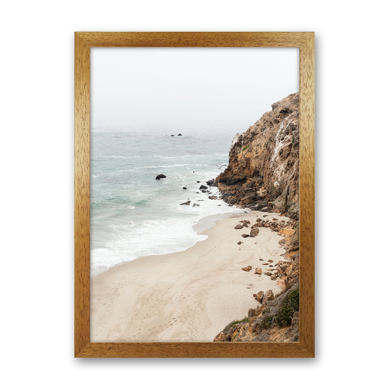 Malibu Dream Photography Art Print by Gal Design Oak Grain