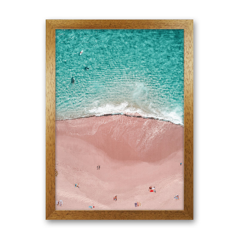 Pink Vacation Photography Art Print by Gal Design Oak Grain
