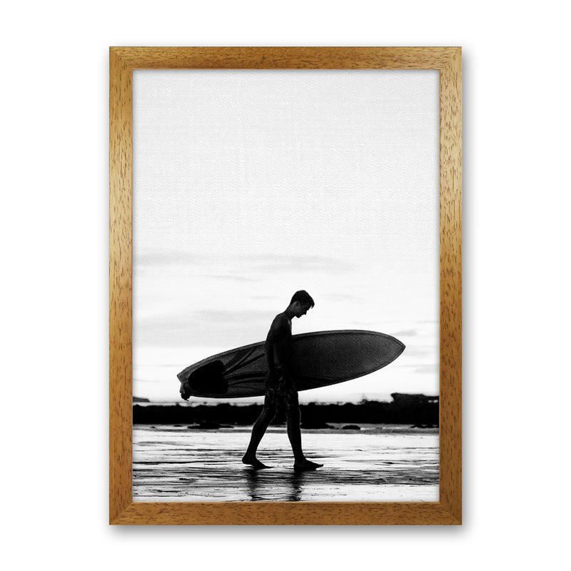 Surf Boy People Art Print by Gal Design Oak Grain