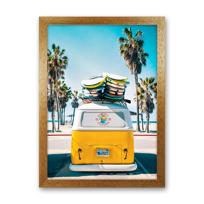 Van Life in Yellow Photography Art Print by Gal Design Oak Grain