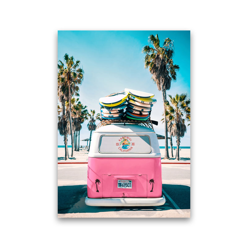Van Life in Pink Photography Art Print by Gal Design Print Only
