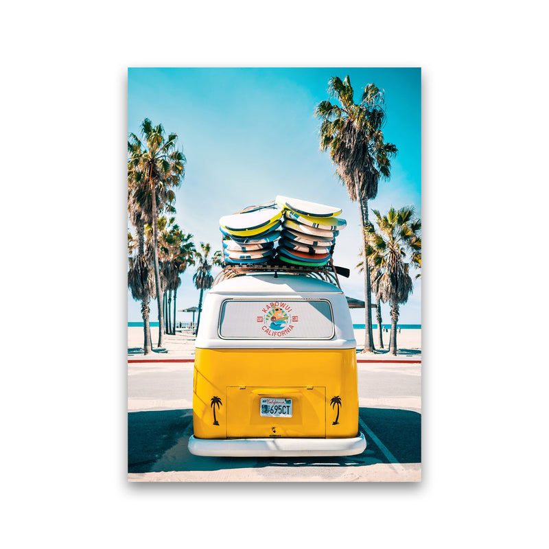 Van Life in Yellow Photography Art Print by Gal Design Print Only