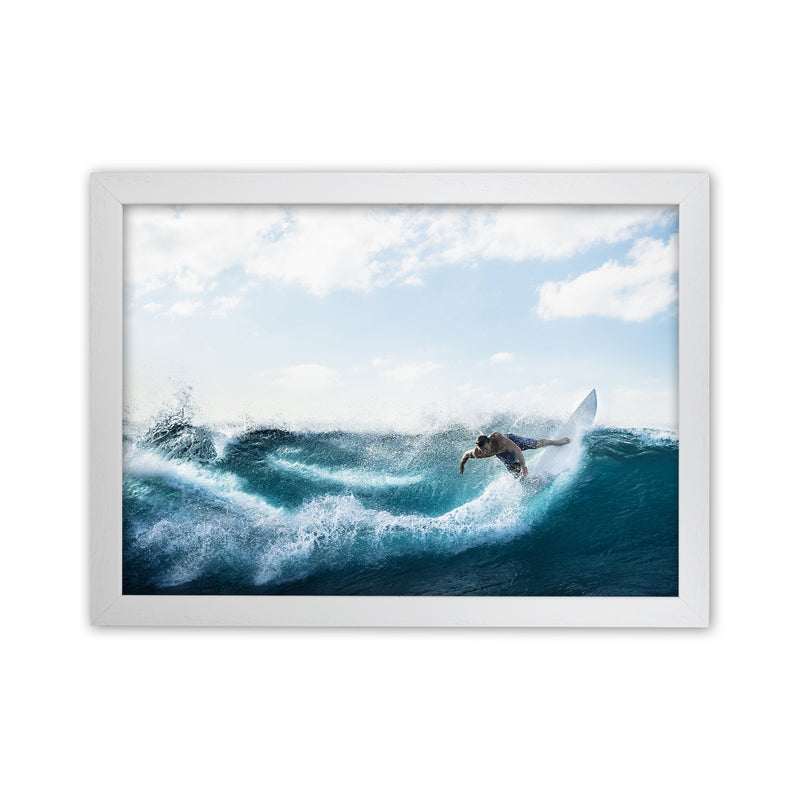 Catch a Wave 2 Photography Art Print by Gal Design White Grain