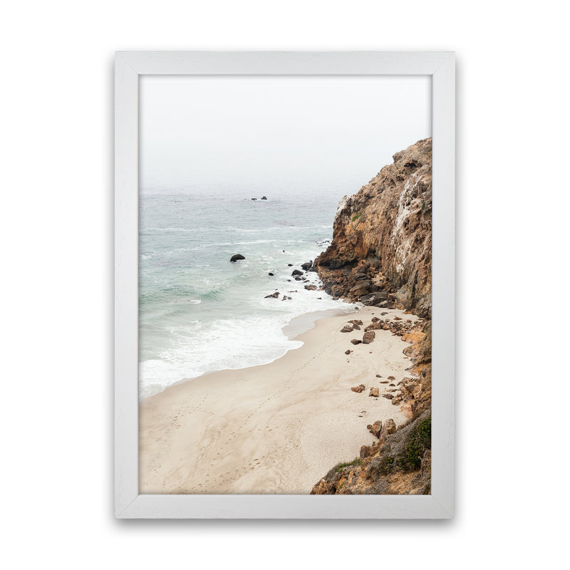 Malibu Dream Photography Art Print by Gal Design White Grain
