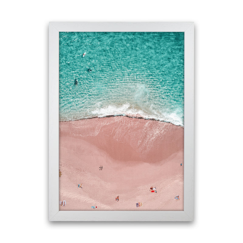 Pink Vacation Photography Art Print by Gal Design White Grain