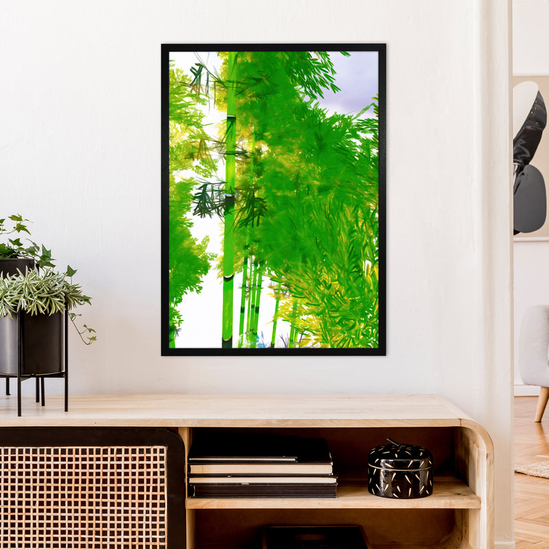 Sweet Tea 3 Abstract Art Print by Henry Hu A1 White Frame