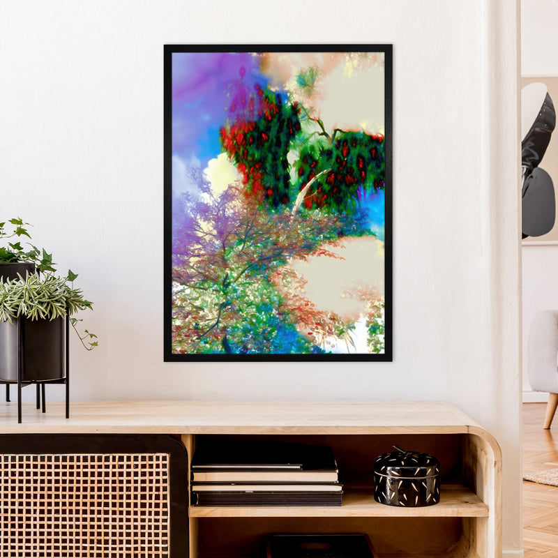 Sweet Tea 9 Abstract Art Print by Henry Hu A1 White Frame