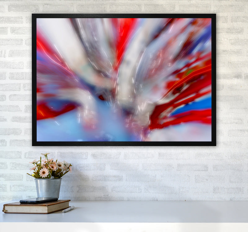 Exposure 4 Abstract Art Print by Henry Hu A1 White Frame