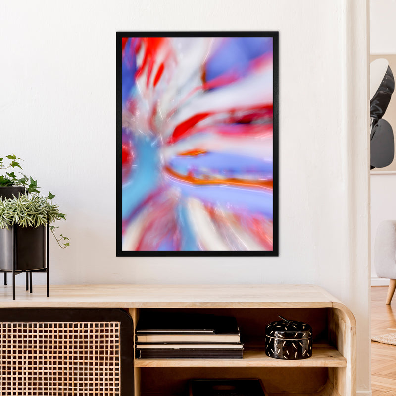 Fogs up 5 Abstract Art Print by Henry Hu A1 White Frame