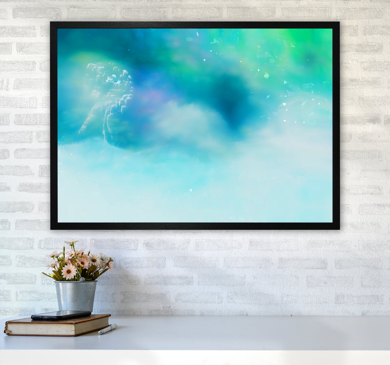 Clearing 1 Abstract Art Print by Henry Hu A1 White Frame