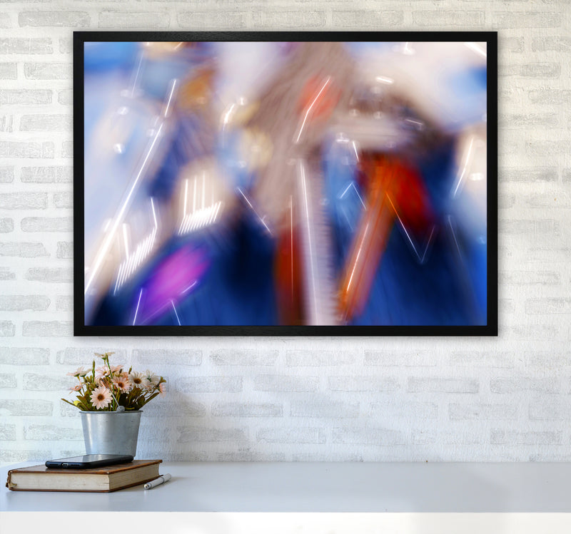 The Sail 7 Abstract Art Print by Henry Hu A1 White Frame