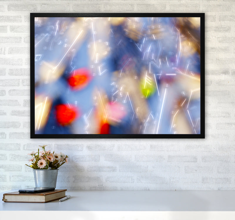 The Sail 5 Abstract Art Print by Henry Hu A1 White Frame