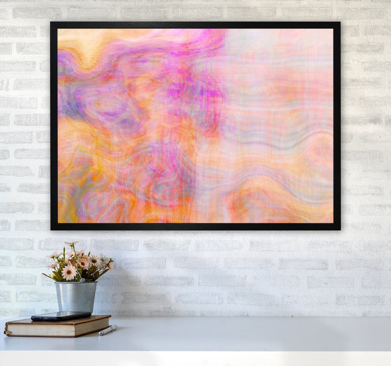 Creation 2 Abstract Art Print by Henry Hu A1 White Frame