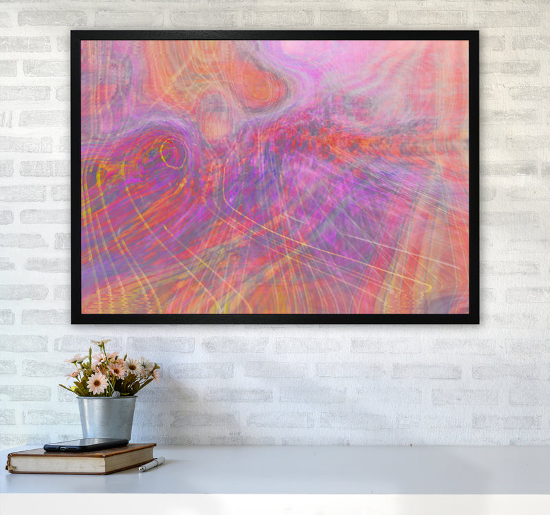 Wake early Abstract Art Print by Henry Hu A1 White Frame
