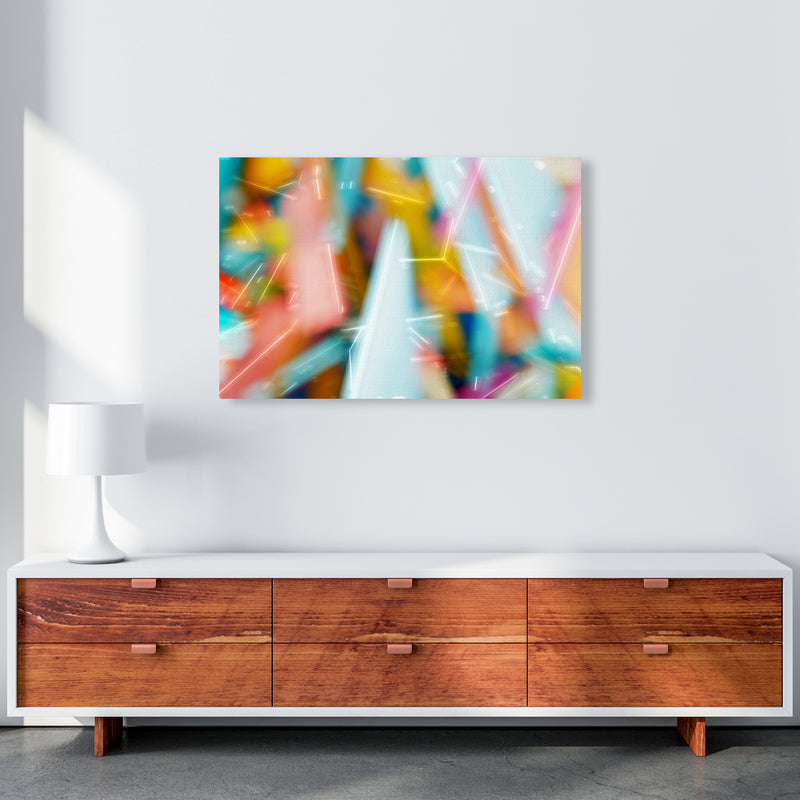 Rush 1 Abstract Art Print by Henry Hu A1 Canvas