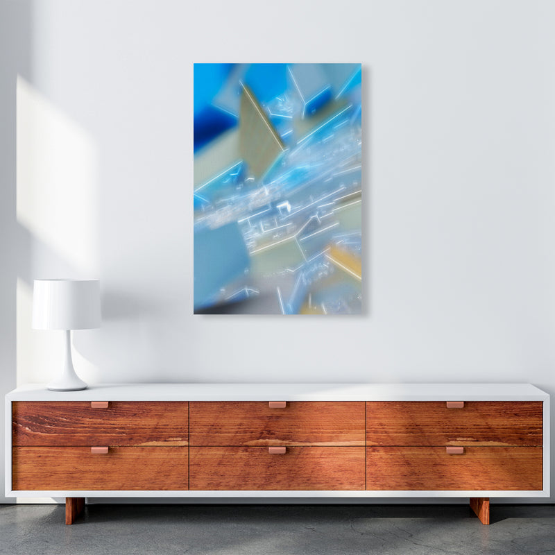 Electric Blue 6 Abstract Art Print by Henry Hu A1 Canvas