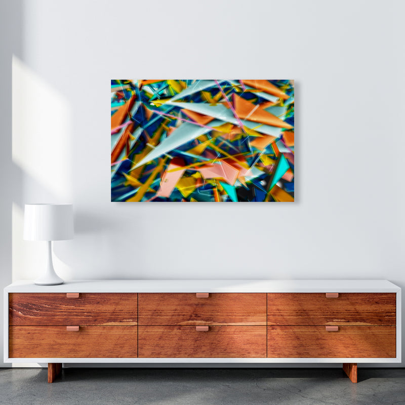 Blurred Triangles 2 Abstract Art Print by Henry Hu A1 Canvas