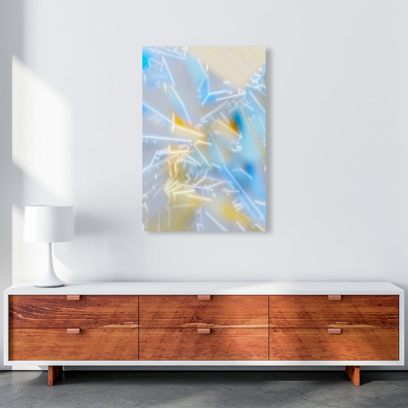 Electric Blue 2 Abstract Art Print by Henry Hu A1 Canvas